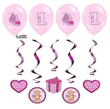 festefeiern-shop.de celebran Fija para 1 Cumpleaños Niña, 9 ...