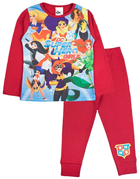 9167769c06 Lora Dora - Pijama - Manga Larga - para niña multicolor DC Super Hero Girls  -