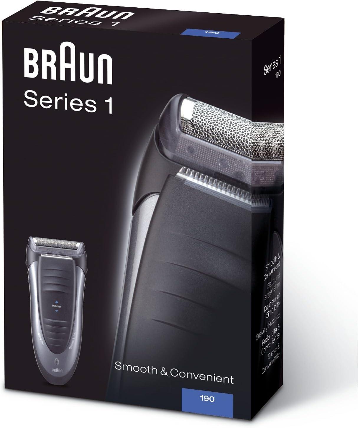 Braun - Afeitadora Series 1 190: Amazon.es: Salud y cuidado personal