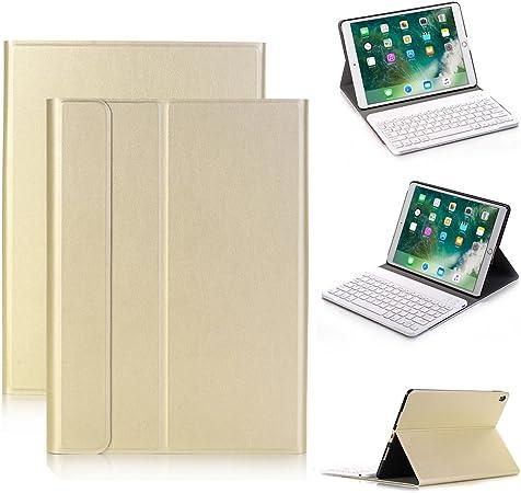 iPad Pro 10,5 Teclado Funda de Piel, genjia Elegante Piel ...