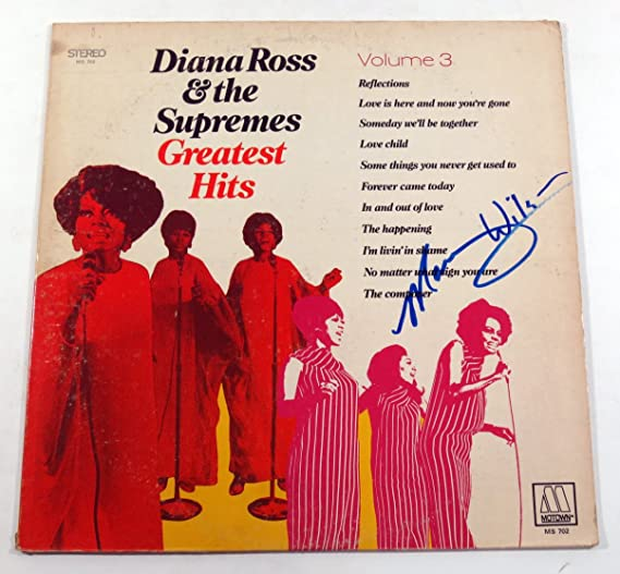 Mary Wilson Signed Album Diana Ross and The Supremes