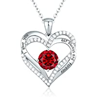 CDE Forever Love Heart Women's Necklace with 5A Cubic Zirconia Valentine's Jewelry Gift