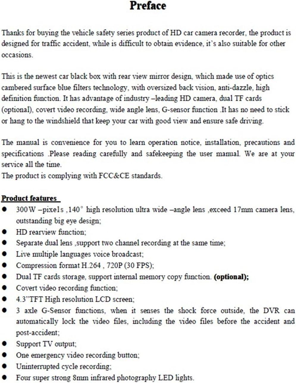 eledenimport.com D-CLICK TM the Newest 4.3 TFT HD 720P 30FPS Car ...