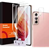 4 Pack MP-MALL 2 Pack Flexible TPU Film Screen Protector + 2 Pack Camera Lens Protector Compatible for Samsung Galaxy S21 Plu