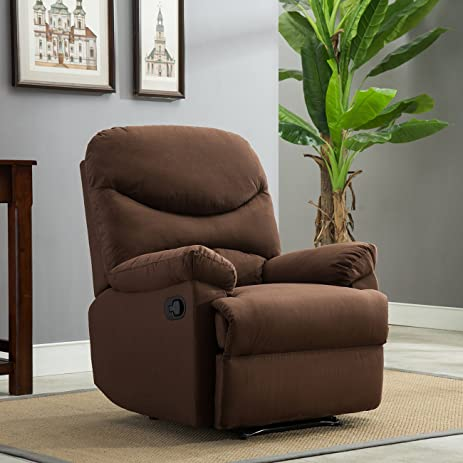 Belleze Microfiber Recliner Sofa Chair Home Office Reclining Positions Ergonomic Armrests/Footrests Brown & Amazon.com: Belleze Microfiber Recliner Sofa Chair Home Office ... islam-shia.org