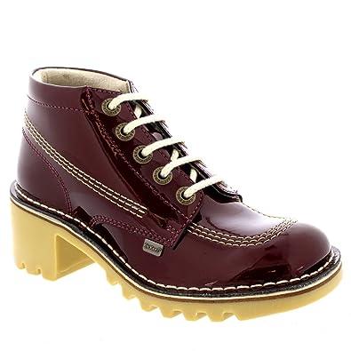 cb40778e996 Womens Kickers Kick T Brogue Buckle T-Bar Casual Glitter Nubuck Shoes