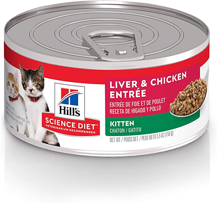 Hill's Science Diet Kitten Canned Cat Food Variety Pack, Liver & Chicken and Savory Salmon