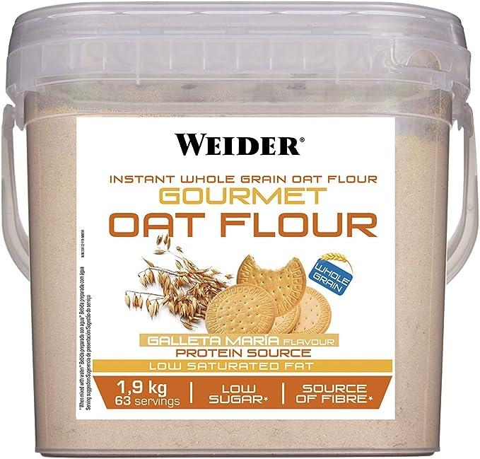 Weider Oat Gourmet. Harina de Avena Integral. Fuente de proteína con bajo contenido en azúcares. Sabor Galleta María (1,9 kg): Amazon.es: Salud y cuidado personal