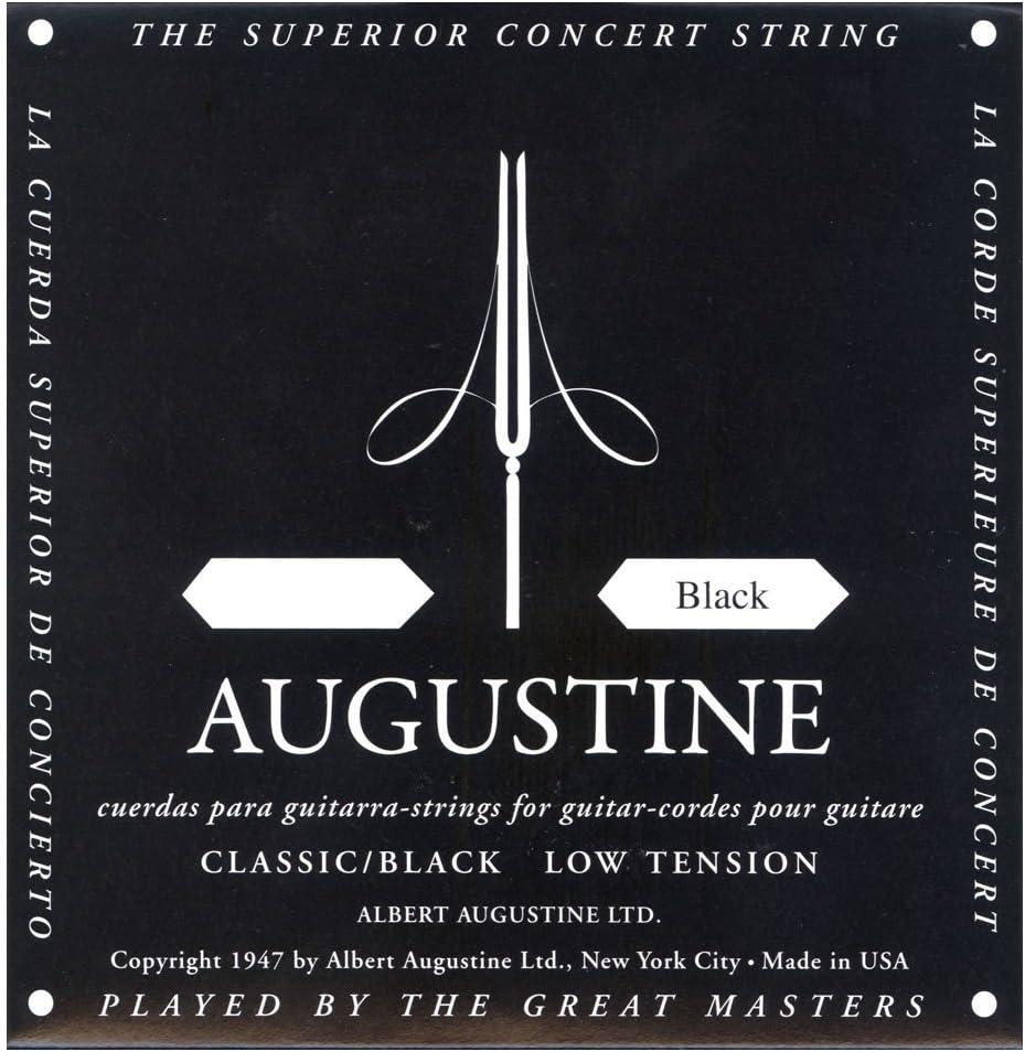 Augustine Cuerdas para Guitarra Clásica, Negro, Re4, Tensión Bajo ...
