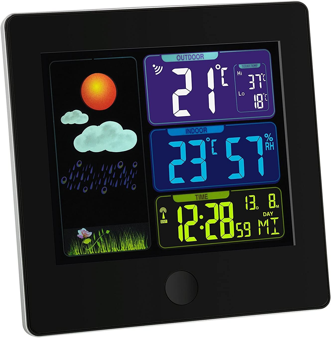 black with batteries TFA-Dostmann 35.1133 SUN Wireless Weather Station