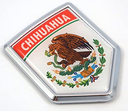 Amazon Com Chihuahua Mexico Flag Mexican Car Emblem Chrome Bike