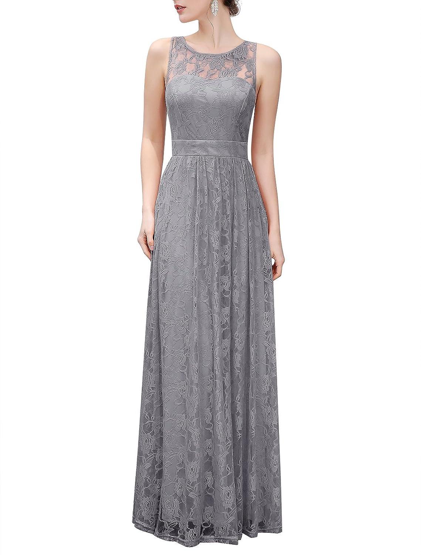 Wedtrend Frauen Lace lange Brautjungfer Kleid Party Kleid ...
