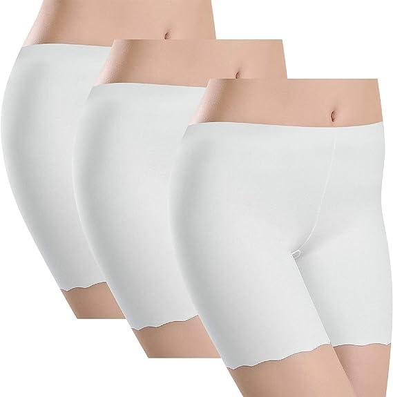 UMIPUBO Bragas Algodon Mujer Seguridad Ropa Interior Seda de Hielo Boxer Short Leggings Cortos Slipshort Pantalon Falda Leotardos de Pack de 3: Amazon.es: Ropa y accesorios