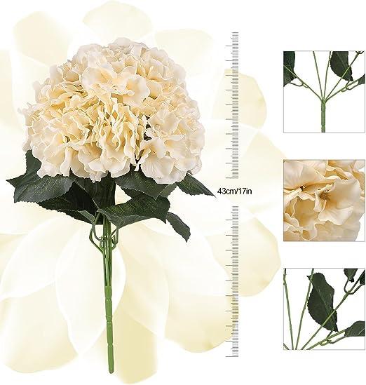 Artificielle Hydrangea Floral Faux Fleur 3 Têtes 1 Bunch Dinning Table Décoration Prop