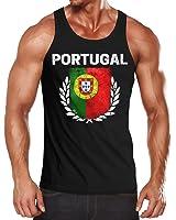 Herren Tanktop - Fußball EM 2016 Portugal Flagge Vintage - Tank Top MoonWorks®
