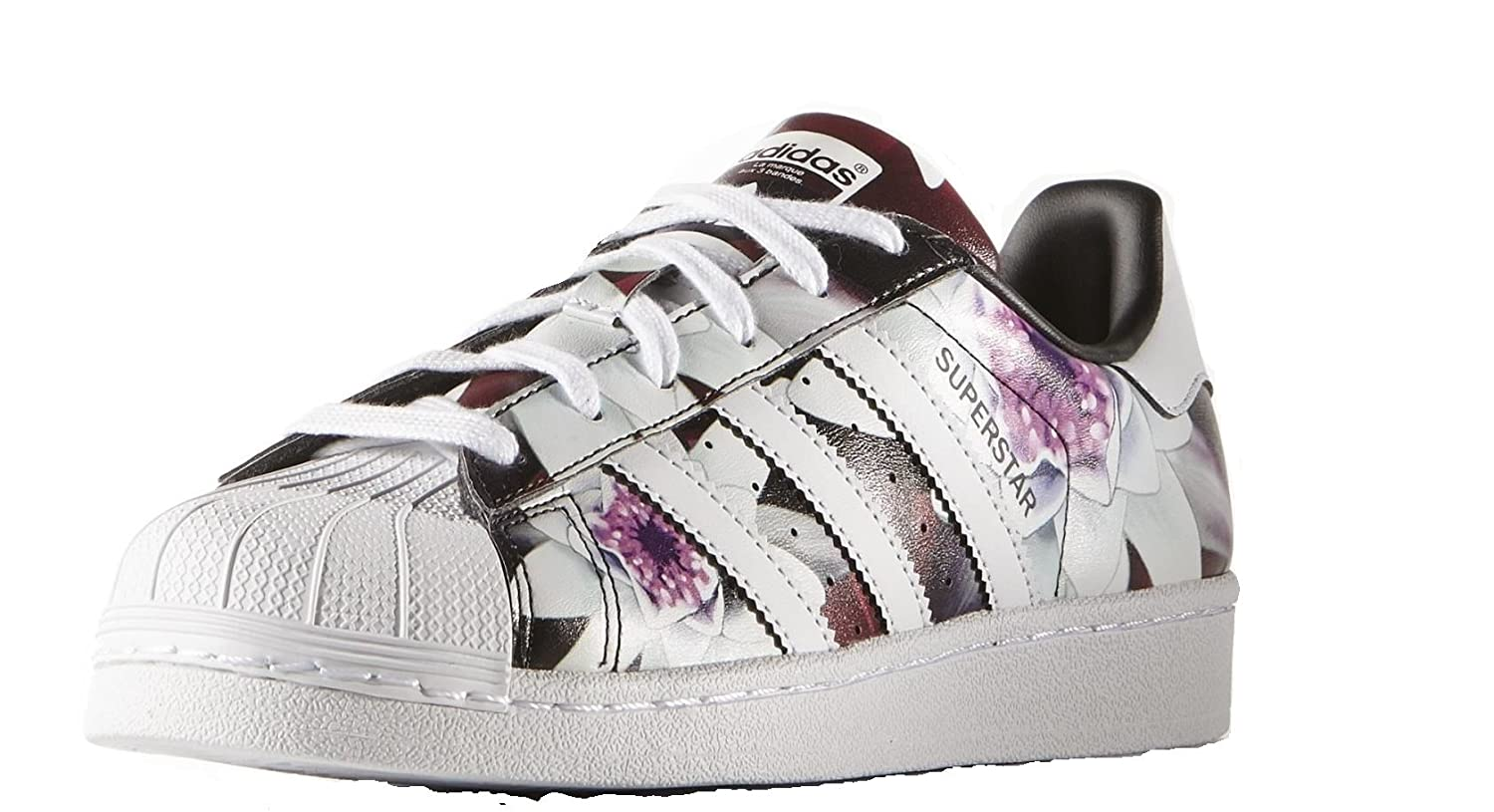 Adidas superstars purple floral Chic sportive Adidas
