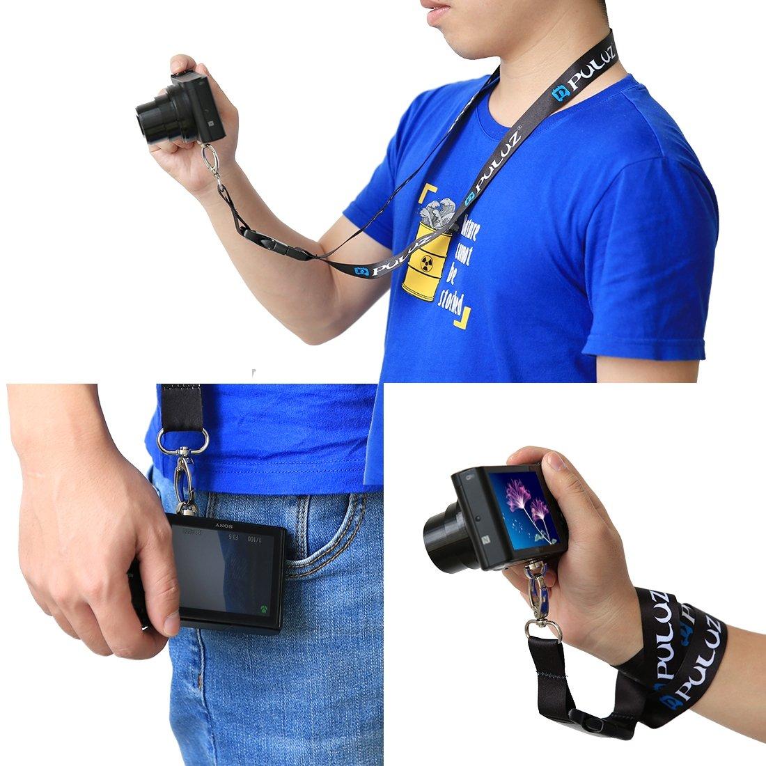 Puluz 60/cm//23.62/in staccabile lungo cordino da collo petto Sling sport fotocamera accessori kit di montaggio per videocamere GoPro Hero 6/HERO5//4//4//3/+//3//2//1/e SJ4000 SJ5000 SJ6000/camera