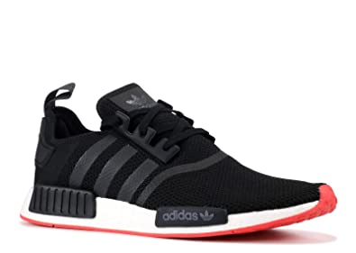 super popular d6913 6fa15 adidas Originals Men's NMD_R1, Black/Carbon/Trace Scarlet ...