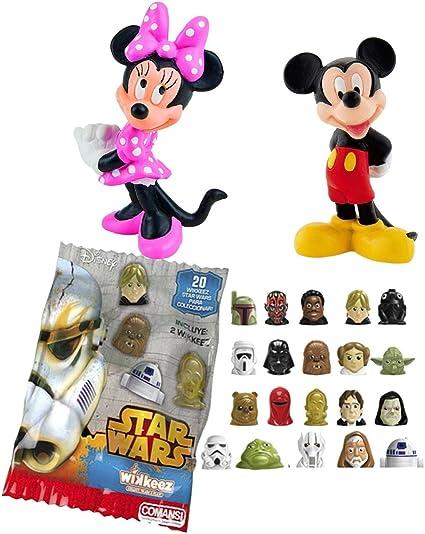 LOTE 2 FIGURAS Bullyland Mickey y Minnie - Mickey Mouse - Minnie + REGALO: Amazon.es: Juguetes y juegos
