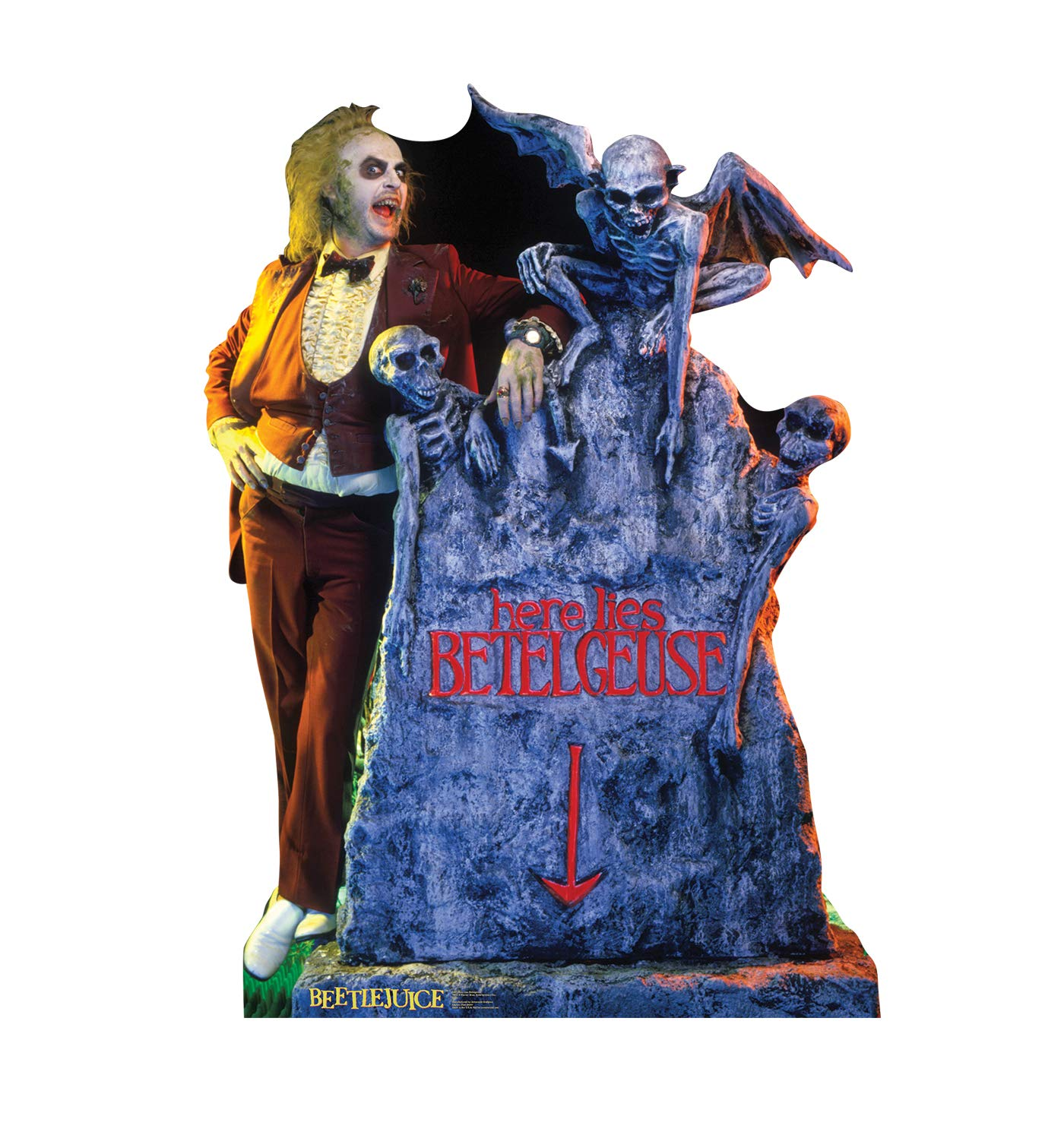 Advanced Graphics Beetlejuice - Here Lies Betelgeuse Life Size Cardboard Cutout Standup - Beetlejuice (1988 Film)