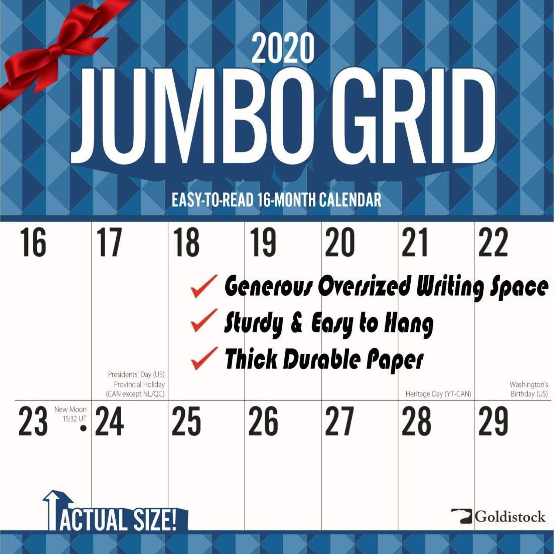 "Goldistock 2020 Large Wall Calendar /""Hubble Space Telescope/"" 12/"" x 24/"" Open"