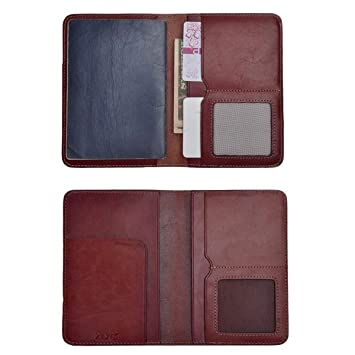 4337046a8 Amazon.com | ZLYC Vintage Passport Holder Leather Passport Protector Case Cover  Travel Wallet (Dark Red) | Passport Covers