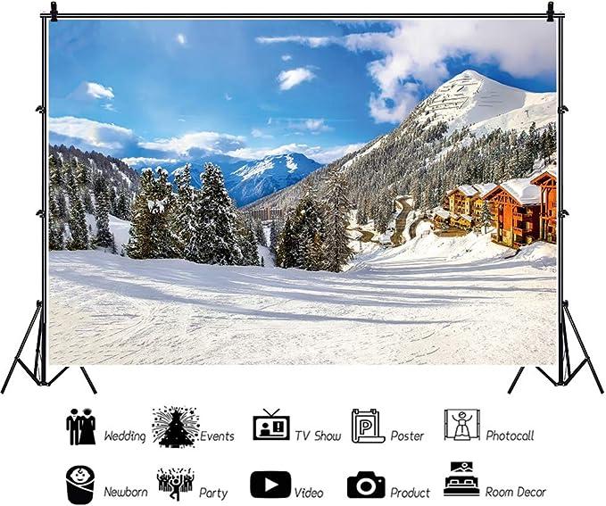 Oerju 2 7x1 8m Weihnachten Hintergrund Schnee Kamera