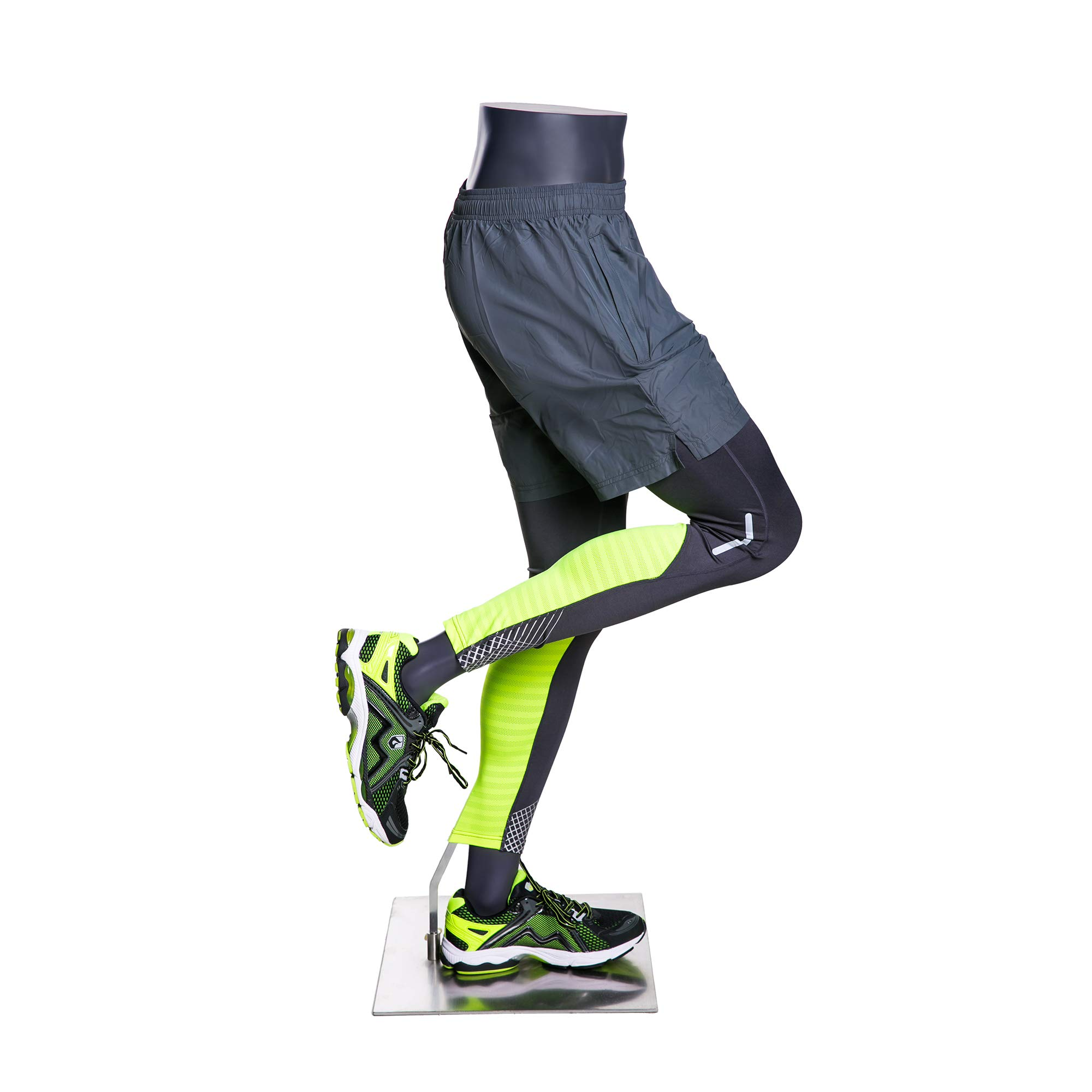 (MZ-HEF50LEG) High end Quality. Eye Catching Male Headless Mannequin Leg, Athletic Style. Running Pose. by Roxy Display (Image #3)