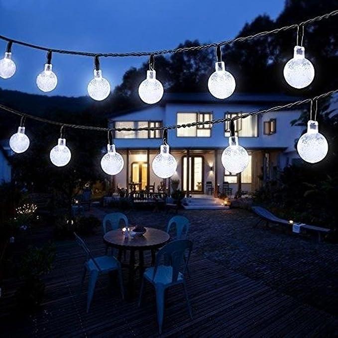 Guirlande Lumineuse Solaire, ZUOAO Guirlande 6M 30 LED Bulles Décoration Extérieur et Intérieur pour Jardin Maison Fête Cérémonie Noël Anniversaire [Classe énergétiq