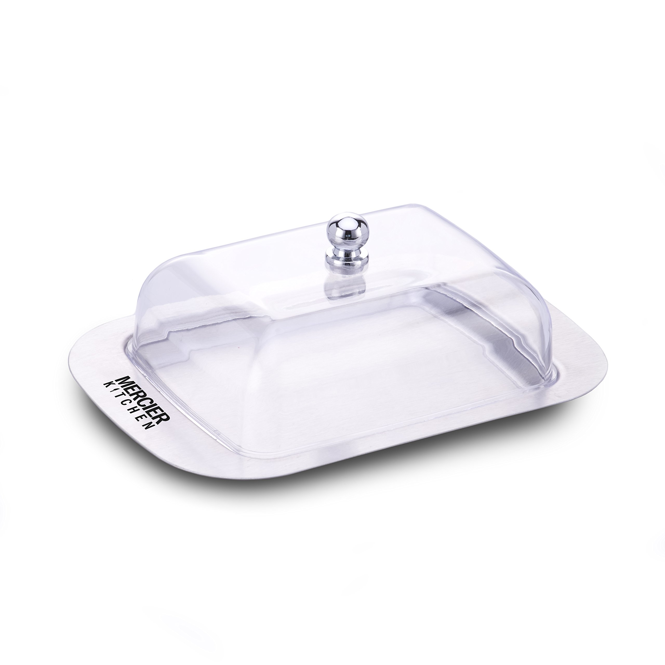 MERCIER Stainless Steel Butter Dish (See-Through Lid)