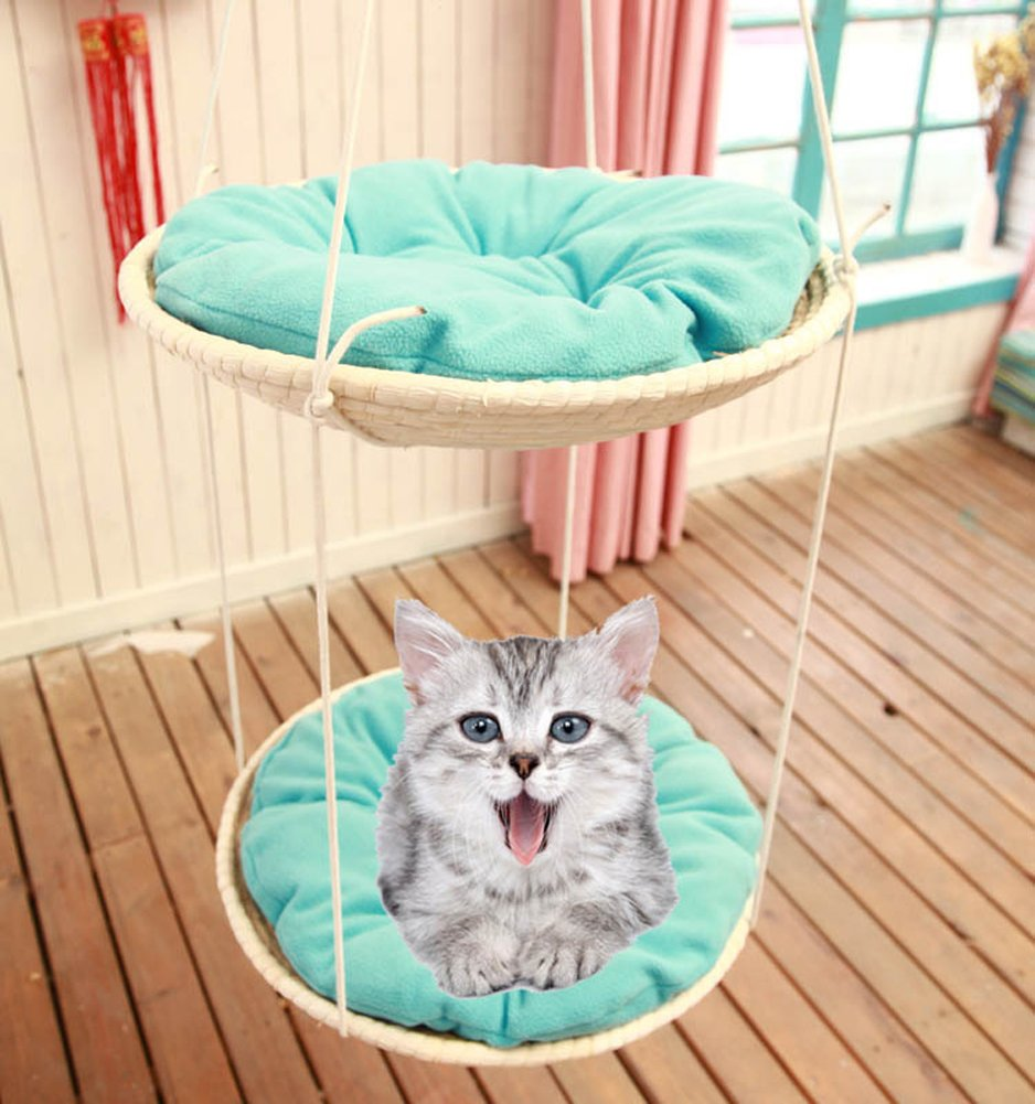 Chickle Hand Made Woven Cat House Bed Hanging Hammock Pet Supplies for Small Animal by Chickle (Image #3)