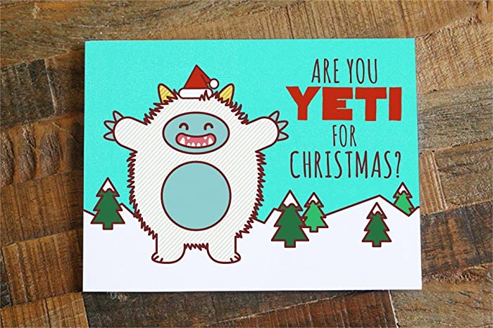 Amazon funny christmas card are you yeti for christmas pun funny christmas card are you yeti for christmas pun card cute yeti m4hsunfo