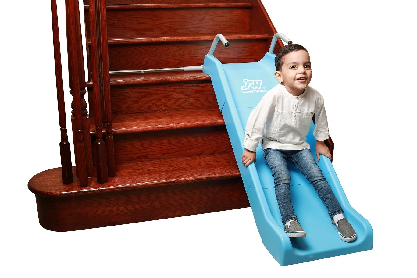Indoor Stair Slide Toy playset Toys – Kids/Toddler/Boys/Girls Safe Playground Children on Stairs – Parents/Grandparents Gifts to Your Precious Ones by SLIDEWHIZZER (Image #3)