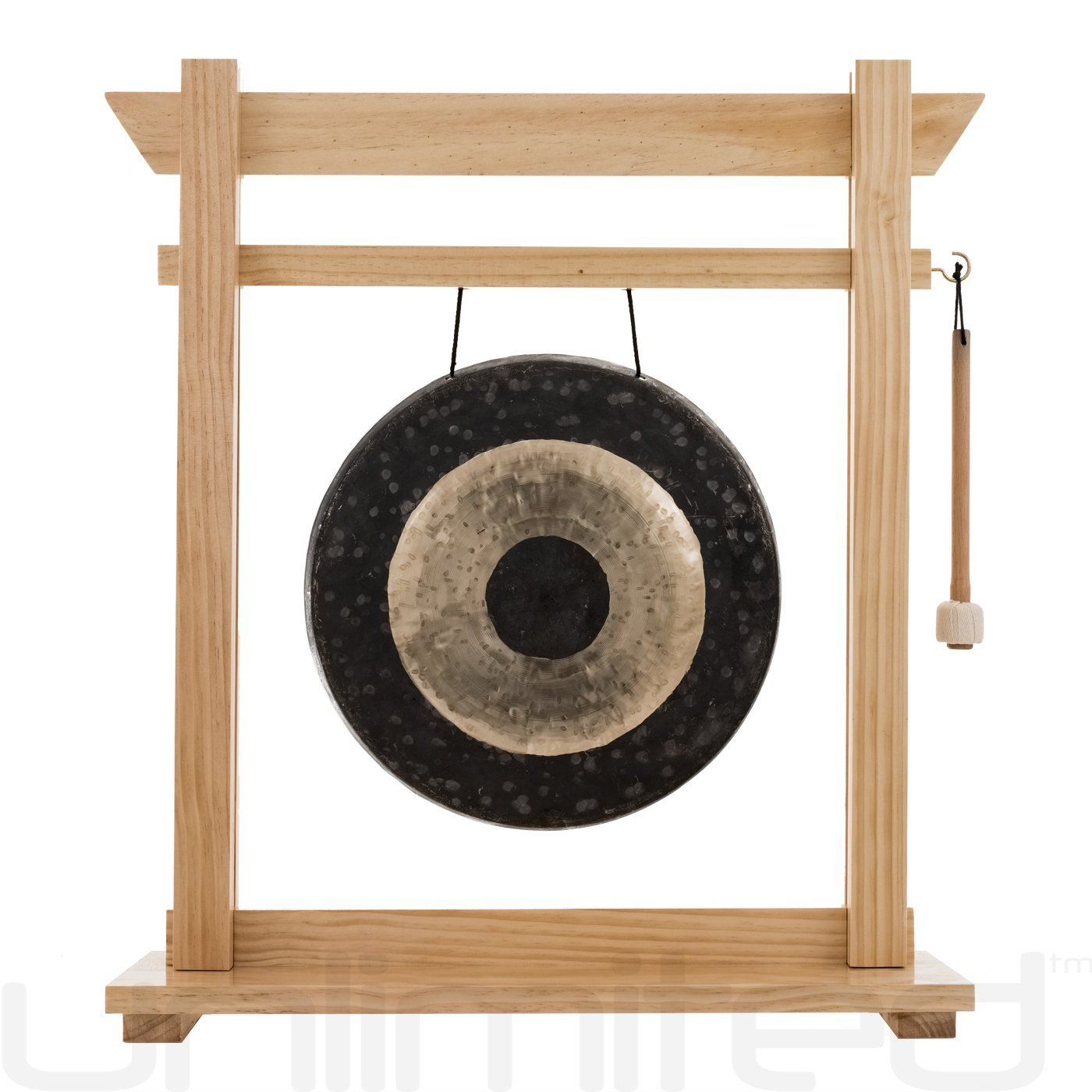 14'' Gongs on the Moksha Joe Gong Stand - Pine