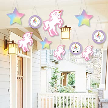 Hanging Rainbow Unicorn Outdoor Hanging Decor Magical Unicorn Baby Shower Or Birthday Party Decorations