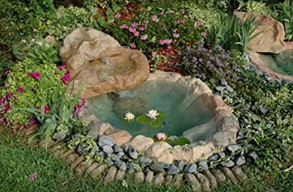 Cascata Giardino Fai Da Te : Laghetto da giardino cascata mini tivoli cm completa di