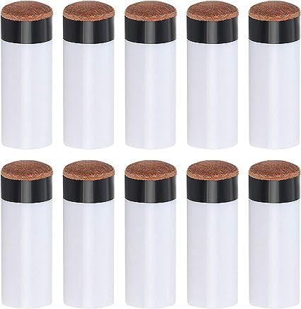 Puntas de tacos de billar de 12 mm de repuesto, puntas de rosca con tacos de billar, casquillos, puntas de taco de billar marrón duro, paquete de 10: Amazon.es: Deportes y aire