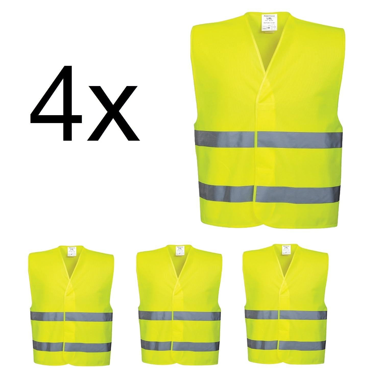 4 chalecos reflectantes EN471, Kit de seguridad TK Gruppe Timo Klingler