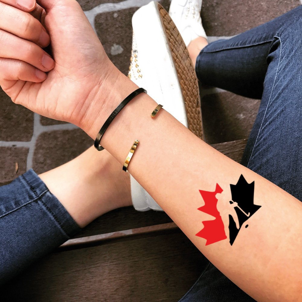 Canada Hockey Temporary Fake Tattoo Sticker (Set of 2) - TOODTATTOO.COM TOOD TATTOO