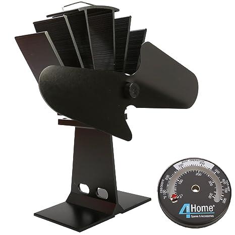 4YourHome respetuoso con el medio ambiente Slient equipmart ventilador para estufa calderas de Leña + incluye