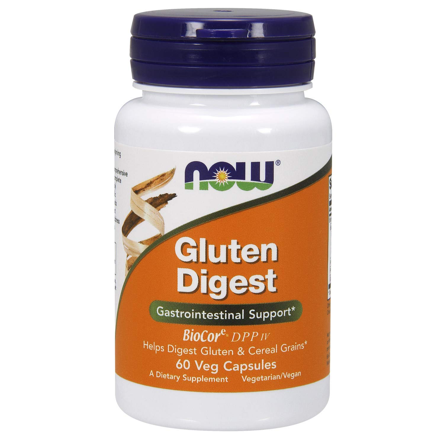 NOW Supplements, Gluten Digest with BioCore DPP IV, 60 Veg Capsules by NOW