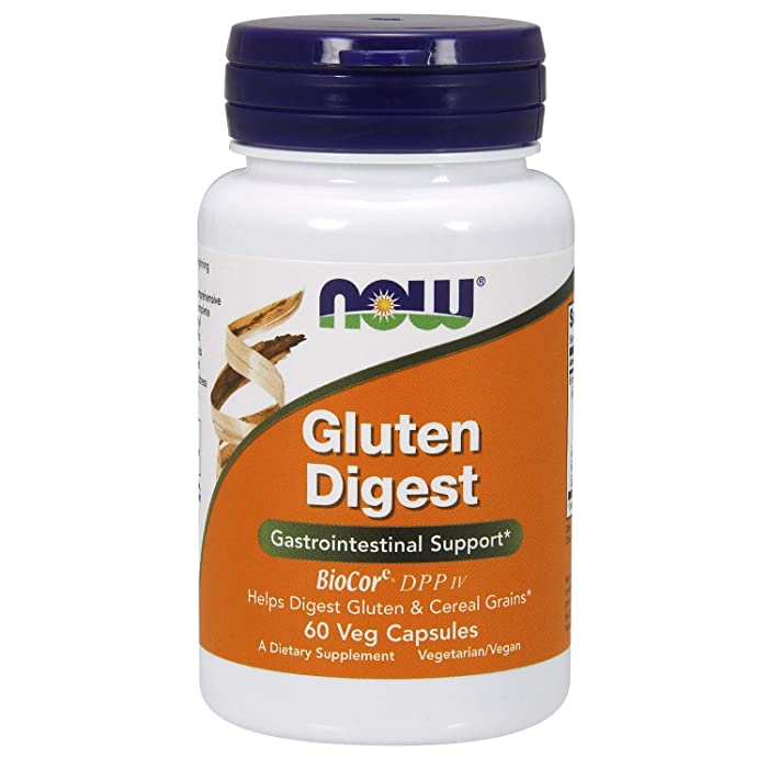 NOW Supplements, Gluten Digest with BioCoreDPP IV, 60 Veg Capsules