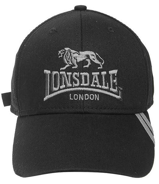 Lonsdale - Gorra de béisbol - para Hombre Negro Gris Talla única  Amazon.es   Ropa y accesorios 837c5ae41de