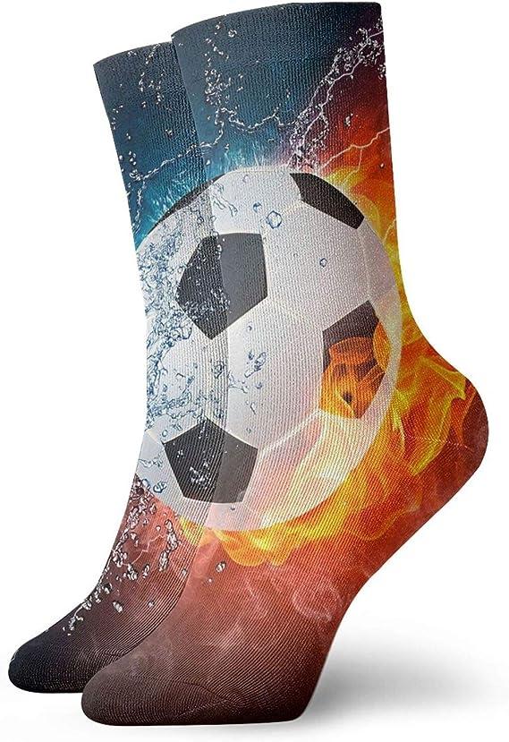 Fútbol fuego agua tobillo calcetines para hombres mujeres