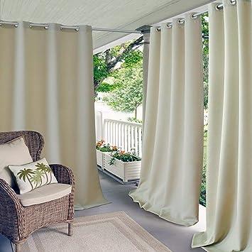 1 84 Outdoor Elfenbein Farbe Pavillon Vorhang Terrasse Veranda Deck