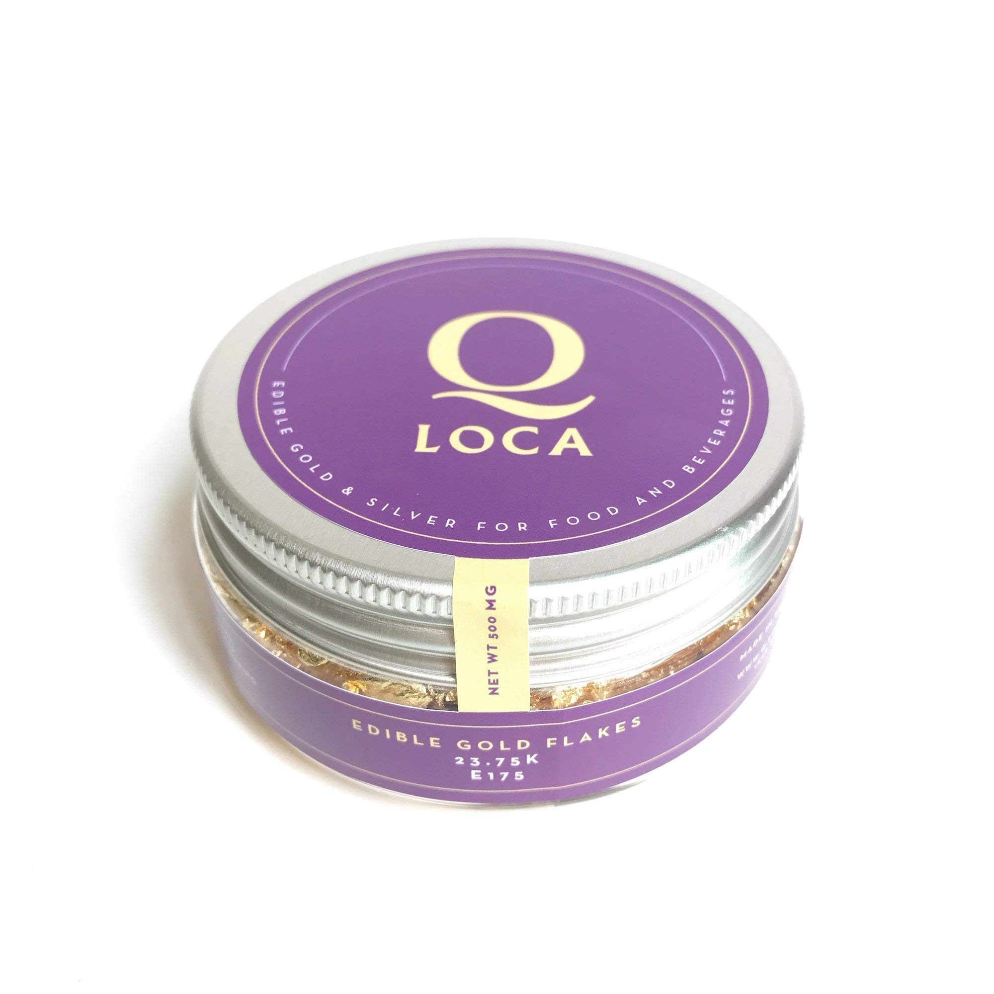Q-loca 23.75K Edible Gold Leaf Flakes, Decorating Cake (500 mg) by Q-loca (Image #1)