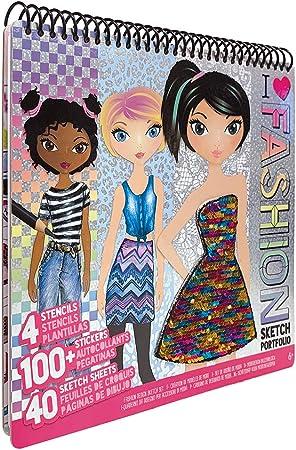 Four Trading 11451 - Bloc para colorear diseños de moda con plantillas [Importado de Alemania]: Amazon.es: Juguetes y juegos