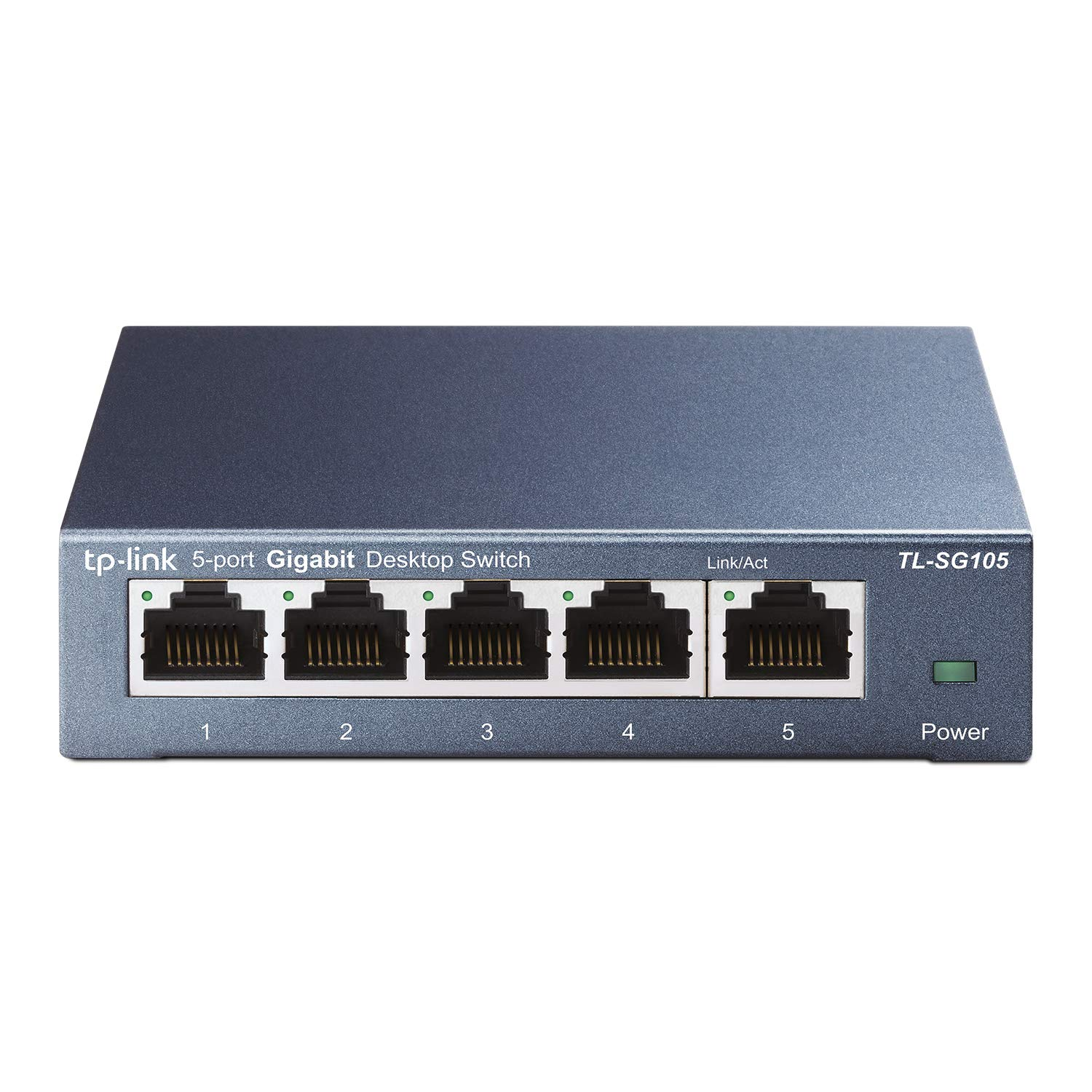 TP-Link TL-SG105 | 5 Port Gigabit Unmanaged Ethernet Network Switch, Ethernet Splitter | Plug & Play | Fanless Metal Design | Shielded Ports | Traffic Optimization | Limited Lifetime Protection