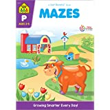 School Zone - Mazes Workbook - Ages 3 to 5, Preschool to Kindergarten, Maze Puzzles, Wide Paths, Colorful Pictures, Attention