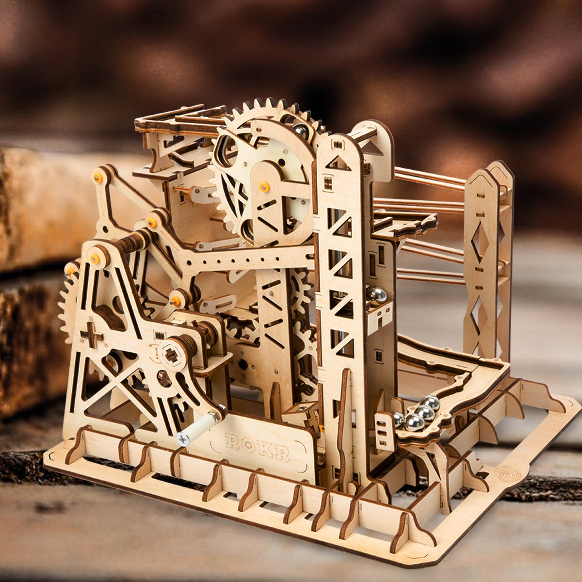 ROBOTIME 3D Puzzle Engineering Toys STEM Learning Kits Wooden Laser-Cut Model Kit Best Mechanical Gears Toy Gifts for Adults & Teens by ROBOTIME (Image #3)